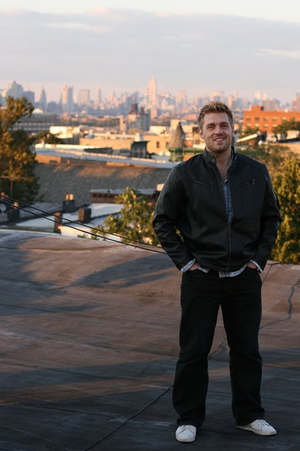 Martin Roald on top of the house in Brooklyn, where he was living in fall 2007.