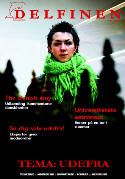 Cover-page of the February 2006 issue of Delfinen